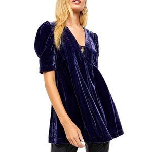 NWT Free People Velvet tunic top